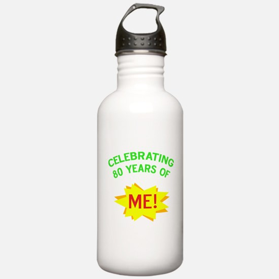 Celebrate My 80th Birthday Water Bottle