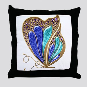 Bejeweled Butterfly Throw Pillow