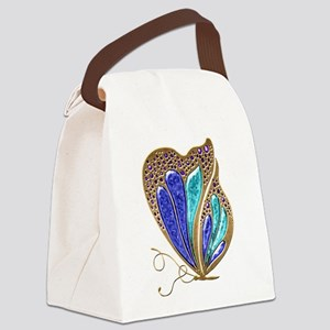 Bejeweled Butterfly Canvas Lunch Bag