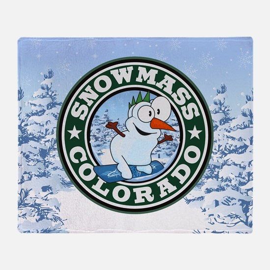 Snowmass Snowman Circle Throw Blanket