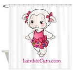 New Lambie Logo Shower Curtain