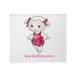 New Lambie Logo Throw Blanket