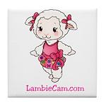 New Lambie Logo Tile Coaster