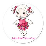 New Lambie Logo Round Car Magnet