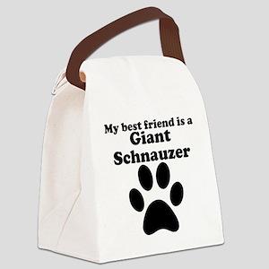 Giant Schnauzer Best Friend Canvas Lunch Bag