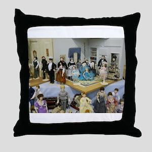 Doll Family Throw Pillow