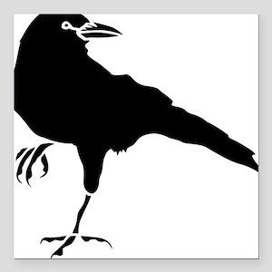 "Crow Square Car Magnet 3"" x 3"""