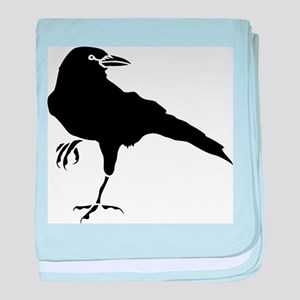 Crow baby blanket