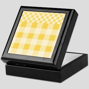 Lemon Zest Gingham pattern Keepsake Box