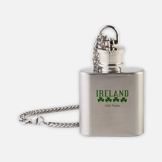 Lucky Irish Shamrocks Flask Necklace