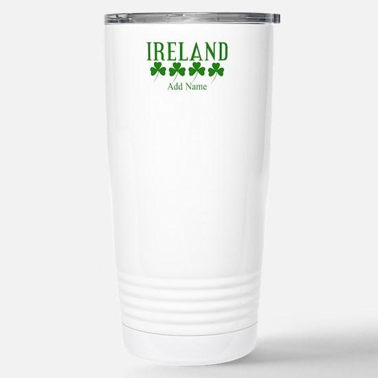 Lucky Irish Shamrocks Travel Mug