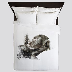 Gazing Labrador Queen Duvet