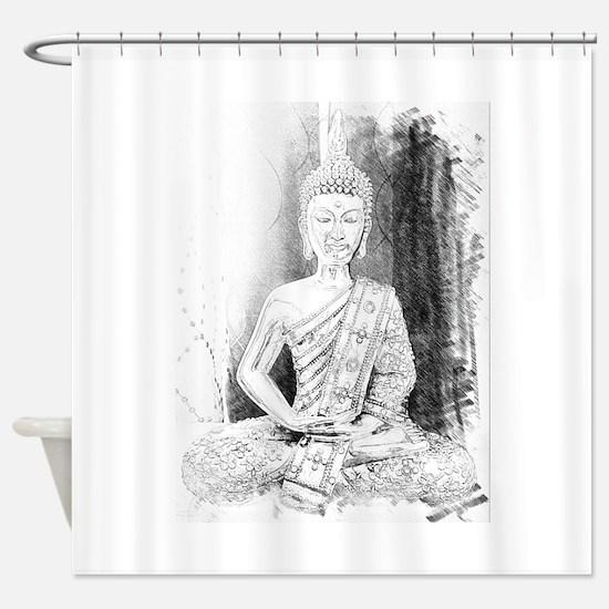 Zen Buddha Art Shower Curtain