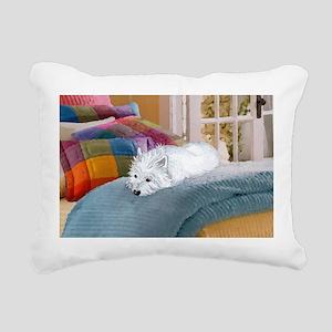 Westie Napping Rectangular Canvas Pillow