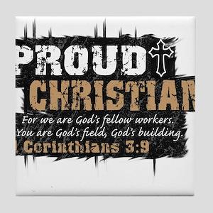 ProudChristian copy Tile Coaster