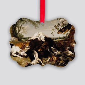 Snyders Hounds bringing down a Boar Ornament