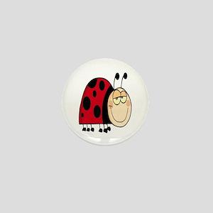 cute goofy cartoon grinning little ladybug Mini Bu