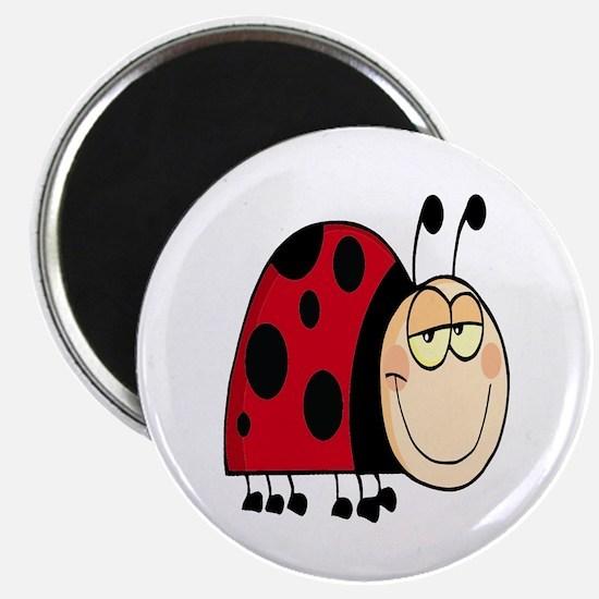 cute goofy cartoon grinning little ladybug Magnet