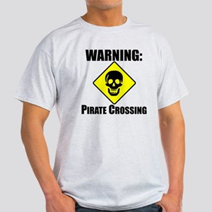 WARNING: Pirate Crossing T-Shirt