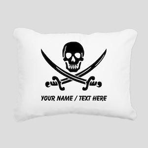 Custom Pirate Rectangular Canvas Pillow