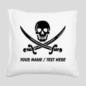Custom Pirate Square Canvas Pillow
