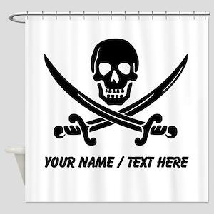 Custom Pirate Shower Curtain