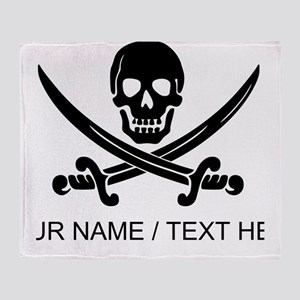 Custom Pirate Throw Blanket