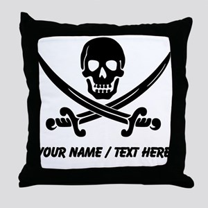 Custom Pirate Throw Pillow