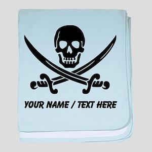 Custom Pirate baby blanket