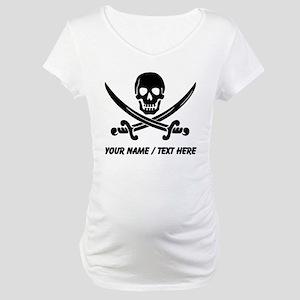 Custom Pirate Maternity T-Shirt