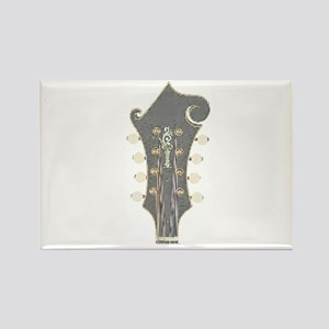 Plaid Mandolin Headstock Rectangle Magnet