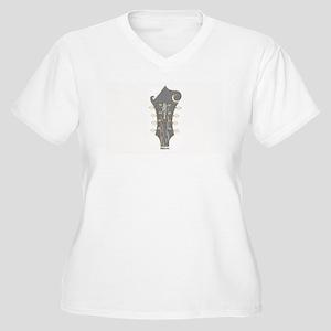 Plaid Mandolin Headstock Plus Size T-Shirt