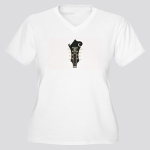 Abstract Mandolin Headstock Plus Size T-Shirt