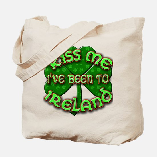 KISS ME I've Been to IRELAND Tote Bag