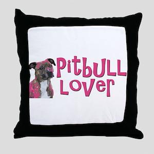 pitbull lover Throw Pillow