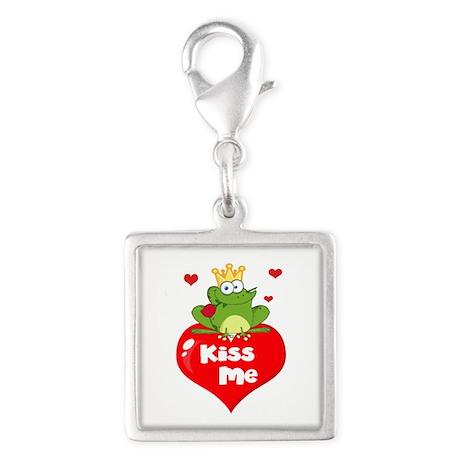 cute kiss me frog prince on heart cartoon Silver S