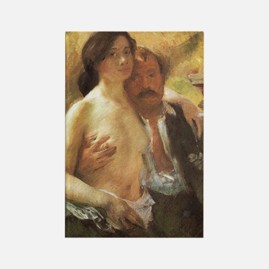Lovis Corinth Rectangle Magnet