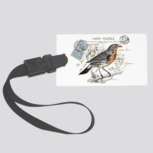 Blue Bird Carte Postale Luggage Tag