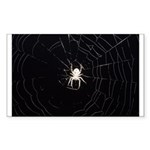 Spooky Spider Rectangle Sticker