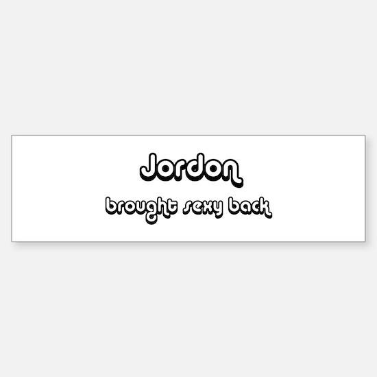 Sexy: Jordon Bumper Bumper Bumper Sticker