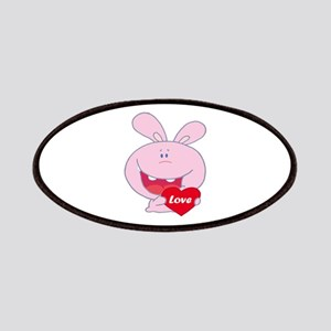 cute little love bunny cartoon character Patches