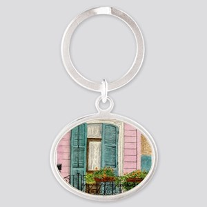 New Orleans Door Oval Keychain