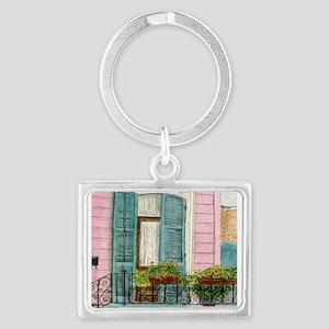 New Orleans Door Landscape Keychain