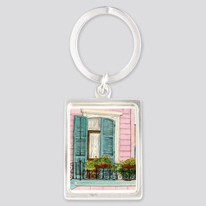 New Orleans Door Portrait Keychain