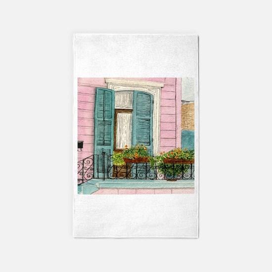 New Orleans Door 3 X5 Area Rug