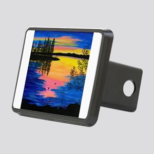 Dawn on the Lake Rectangular Hitch Cover