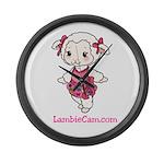 New Lambie Logo Large Wall Clock