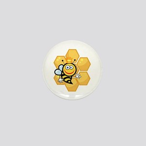 cute queen bee and honeycomb cartoon graphic Mini