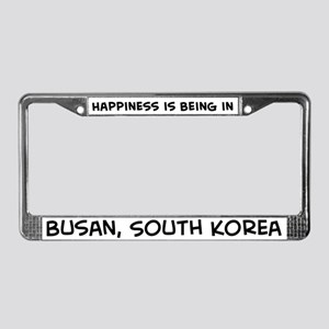 Happiness is Busan License Plate Frame