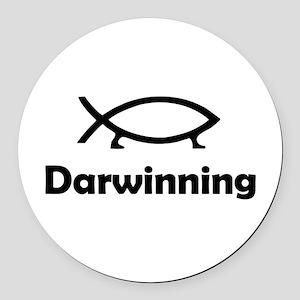 Darwinning Round Car Magnet